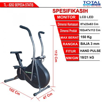 Sepeda Fitness TL-8202 WIND CYCLE WITH COVER 2 detailed_ukuran_platinumbike