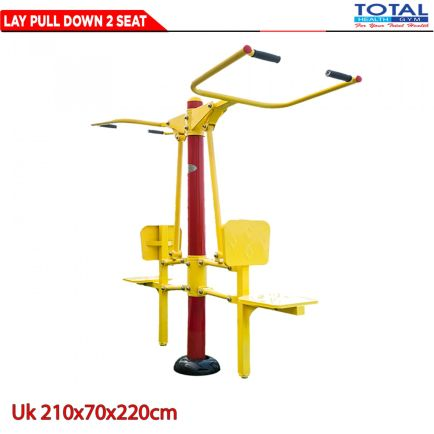 Total Fitness Outdoor LAT PULL DOWN 2 SEAT 1 lay_pull_down2set